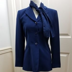 Kasper Blazer/Suit Separate with scarf, like new